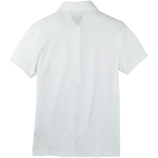Women Polos Solid - Solid Terry Polo, White back