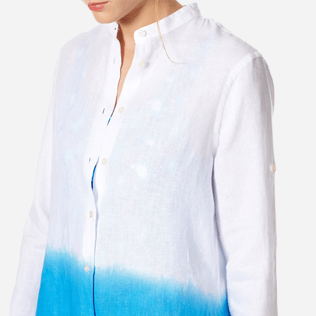 Women Others Solid - Women Linen Shirt Dress Tie and Dye, Atoll supp1