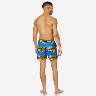 Men Classic Printed - Men Swim Trunks Vilebrequin x Hunt Slonem, Atoll backworn