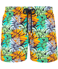 Men Stretch classic Printed - Men Swim Trunks Stretch Jungle, Midnight blue front