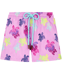 Women Others Embroidered - Women Swim Short Ronde des Tortues Aquarelle, Pink berries front