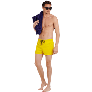 Men Short classic Solid - Men Swimwear Short and Fitted Stretch Solid, Buttercup yellow supp2