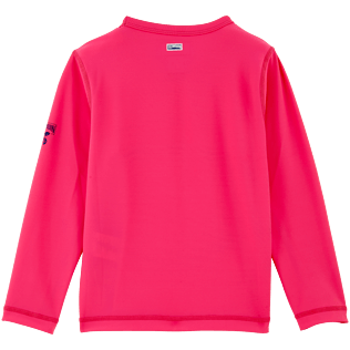 049 Solid - Solid Anti-UV long sleeves T-Shirt, Shocking pink back