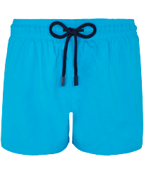 Men Short classic Solid - Men Swimwear Short and Fitted Stretch Solid, Hawaii blue front