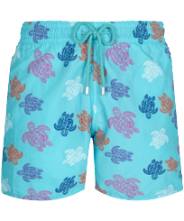 Men Classic Printed - Men Swimwear Ronde des Tortues Indies, Lazulii blue front