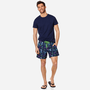 Men Classic Printed - Men Swimwear Rabbits and Poodles - Florence Broadhurst, Navy supp2