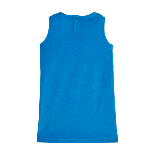 Girls Others Solid - Girls Terry Cloth Sleevless Dress Solid, Hawaii blue back