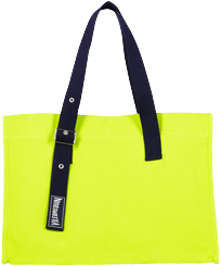 Others Solid - Large Beach Bag Cotton, Lemongrass front