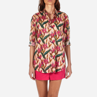 Shirts Printed - Unisex Cotton Voile Shirt Paradise 3D, Nude supp1