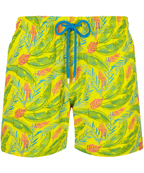 Men Classic Embroidered - Men Swimwear Embroidered Leaves in the wind - Limited Edition, Safran front