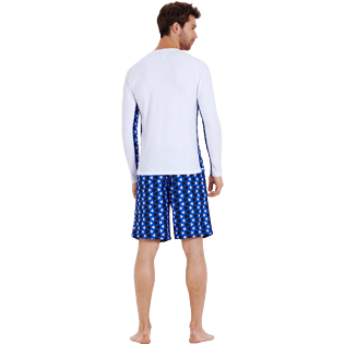 Men Others Printed - Men Rashguard Re Mi Fa Soles, White backworn