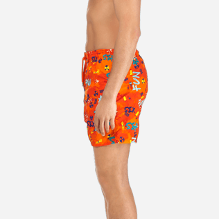 Men Classic / Moorea Embroidered - Men Swimtrunks Printed and Embroidered Sea Sex and Fun - Limited Edition, Kumquat supp3