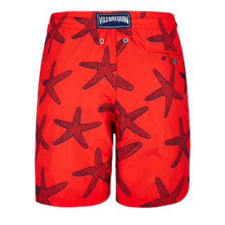 Men Embroidered Embroidered - Men Swimtrunks Embroidered Starlettes - Limited Edition, Poppy red back