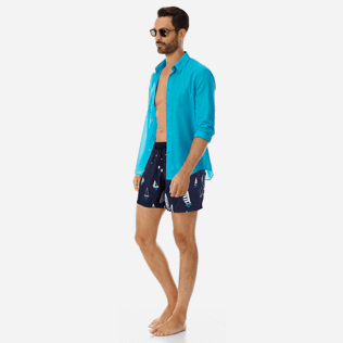 Men Embroidered Embroidered - Men Embroidered swimwear Porto Cervo - Limited Edition, Navy supp2